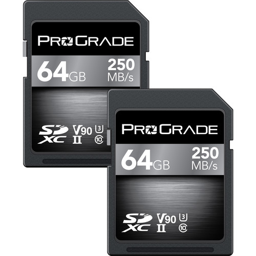 ProGrade Digital 64GB UHS-II SDXC Memory Card (2-Pack)