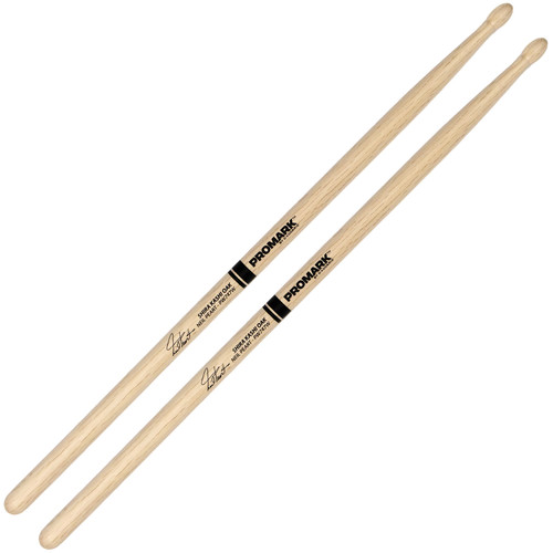 Promark PW747W Shira Kashi Oak 747 Neil Peart Wood Tip Drum Sticks by D'Addario