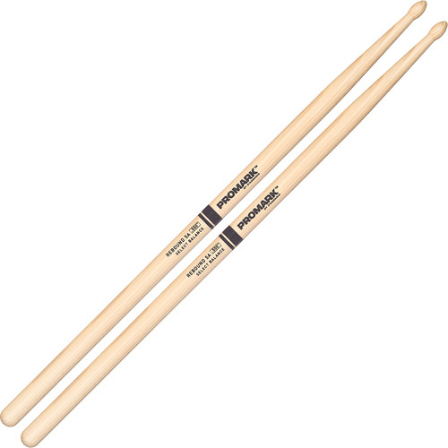 Promark RBH550TW Hickory 5A, Tear-Drop Wood Tip Drum Sticks by D'Addario