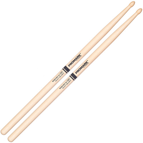 Promark RBH565TW Rebound 5A, Hickory Tear-Drop Wood Tip Drumsticks by D'Addario