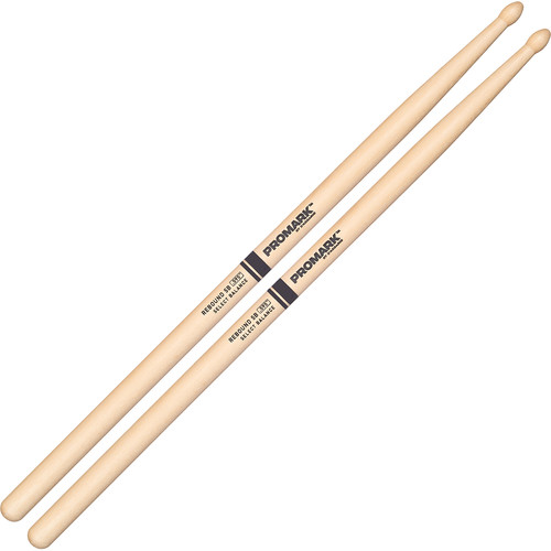 Promark RBH595TW Rebound 5B, Hickory Tear-Drop Wood Tip Drum Sticks by D'Addario