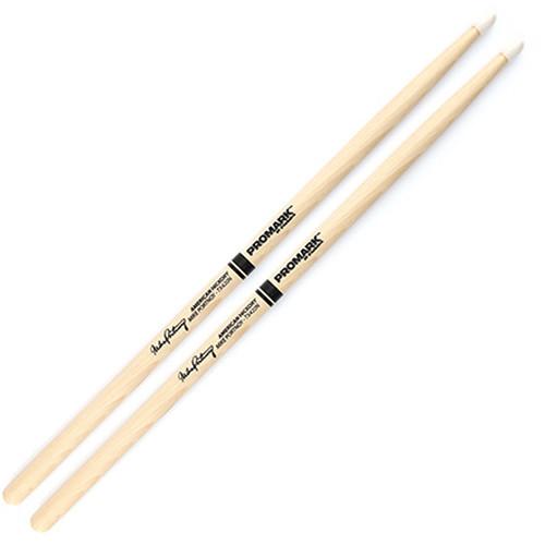 Promark TX420N Hickory 420 Mike Portnoy Nylon Tip Drum Sticks by D'Addario