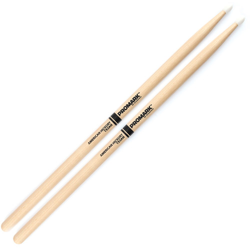 Promark TX5AN Hickory 5A Nylon Tip Drum Sticks by D'Addario