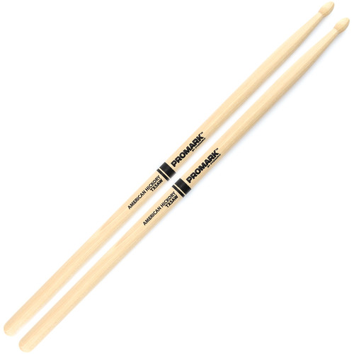 Promark TX5AW Hickory 5A Wood Tip Drum Sticks by D'Addario