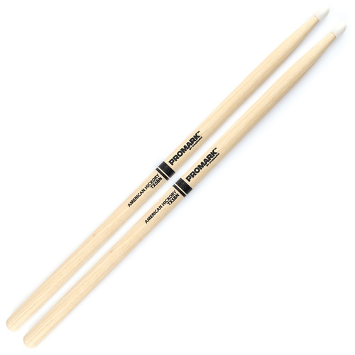 Promark TX5BN Hickory 5B Nylon Tip Drum Sticks by D'Addario