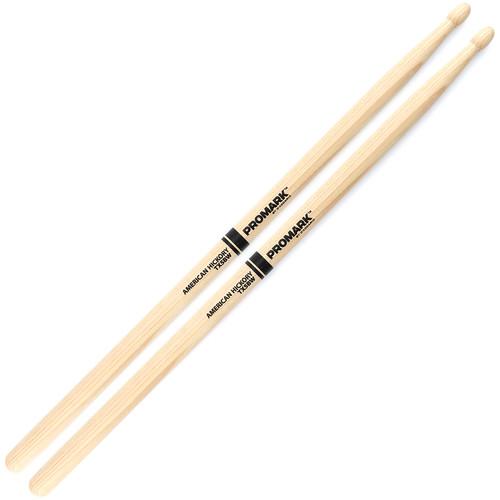 Promark TX5BW Hickory 5B Wood Tip Drum Sticks by D'Addario