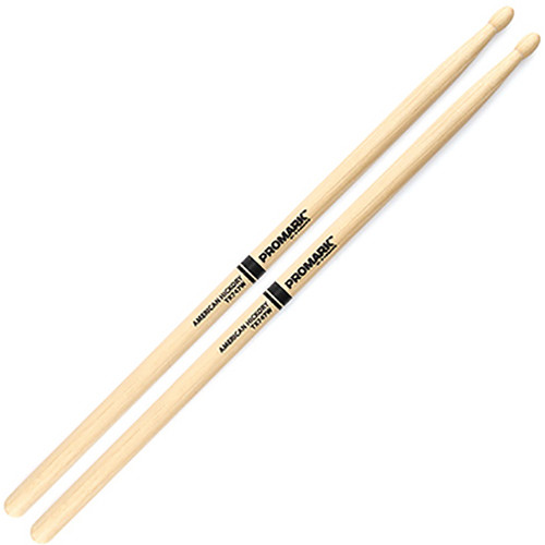 "Promark TX747W Hickory 747 ""Rock"" Wood-Tip Drumsticks by D'Addario"