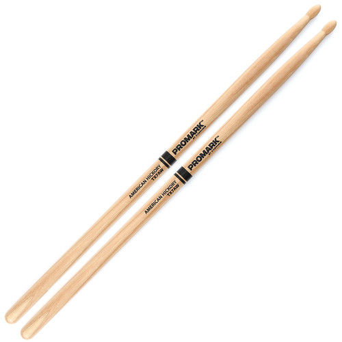 Promark TX7AW Hickory 7A Wood Tip Drum Sticks by D'Addario