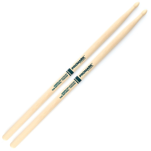 "Promark TXR5AW Hickory 5A ""The Natural"" Wood Tip Drum Sticks by D'Addario"