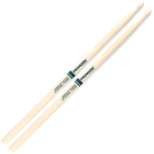 "Promark TXR5BW Hickory 5B ""The Natural"" Wood Tip Drum Sticks by D'Addario"