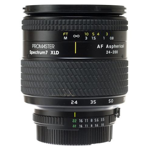 Promaster Zoom Wide Angle-Telephoto AF 24-200mm f/3.5-5.6 XLD Aspherical Autofocus Lens for Nikon AF-D