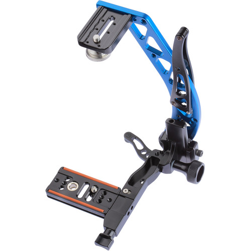 ProMediaGear BBX Boomerang Flash Bracket with Universal QR Plate (Blue, Right-Handed)