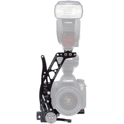 ProMediaGear BBX Boomerang Flash Bracket with Universal QR Plate (Black, Right-Handed)