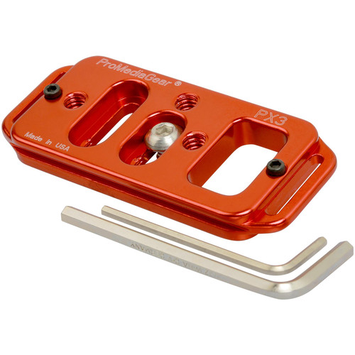 """ProMediaGear Universal Arca-Swiss Type Quick Release DSLR & Lens Mounting Plate (3"""", Red)"""