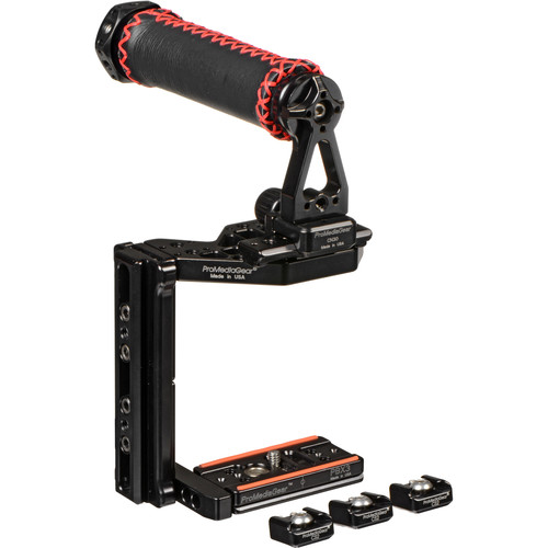 ProMediaGear Adjustable Video Cage with Handle for DSLR and Mirrorless Cameras