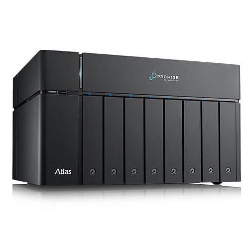 Promise Technology Atlas S8+ Nas Raid Share With 2X Thunderbolt 3 Ports, 4X 1Ge Ports And 64TB Sata Drives