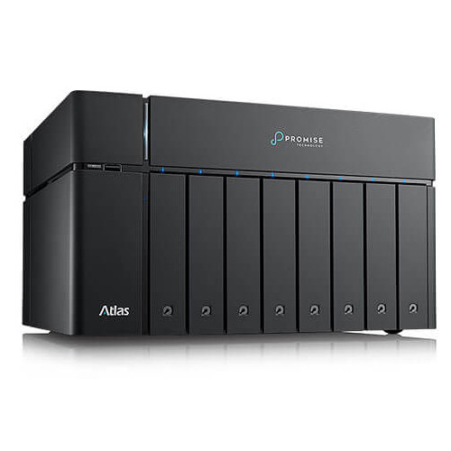 Promise Technology Atlas S8+ Nas Raid Share With 2X Thunderbolt 3 Ports, 4X 1Ge Ports And 80TB Sata Drives