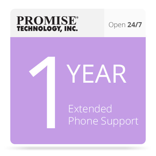 Promise Technology 1-Year Extended 24/7 Phone Support for Pegasus R4 and R6 Units