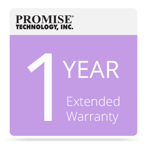 Promise Technology 1-Year Extended Warranty for Pegasus R4/R6 RAID with Drives