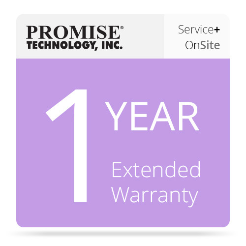 Promise Technology 1-Year Promise ServicePlus Onsite Parts Replacement Warranty