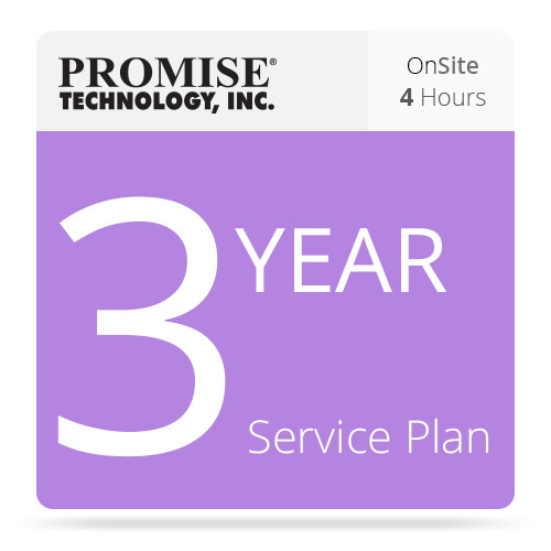 Promise Technology ServicePlus On-Site 4-Hour Parts and Replacement Plan for VTrak Series Subsystems