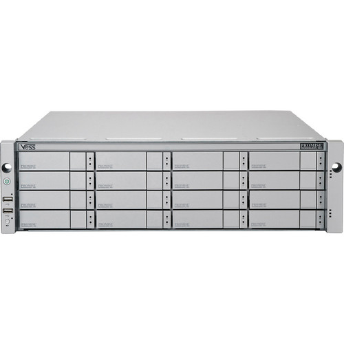 Promise Technology 32TB Vess R2600iD 16-Bay 8x 1GbE iSCSI to 6Gb SAS/SATA RAID Subsystem