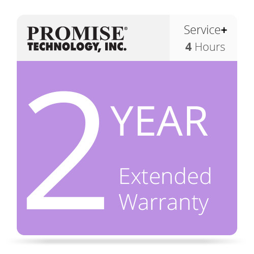 Promise Technology 2-Year Extended Warranty with Promise ServicePlus 4-Hour Service Plan for VTrak Ex30/Jx30 & A-Class Series Units