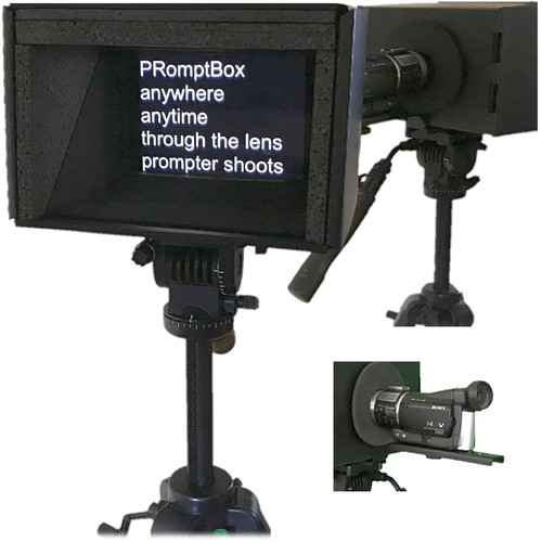 """PRomptBox Compact Folding Mobile Teleprompter for 7 to 9"""" iPads, Tablets, and Smartphones"""
