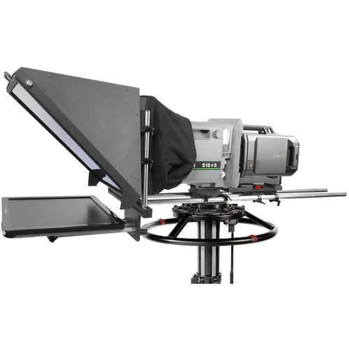 """Prompter People Broadcast Pro 20 Teleprompter with 19"""" Monitor for Studio Box Lens Cameras"""