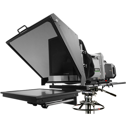 """Prompter People Broadcast Pro 20 Teleprompter with 19"""" High-Bright Monitor for Studio Box Lens Cameras"""