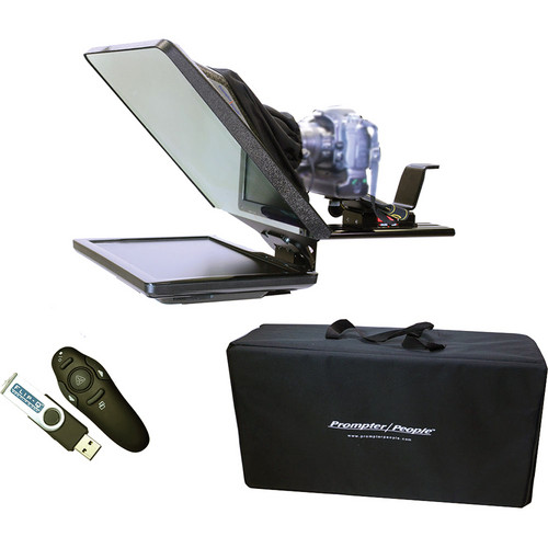 Prompter People FLEX-15 Kit with Wireless Remote and Upgrade to Flip-Q Pro Software