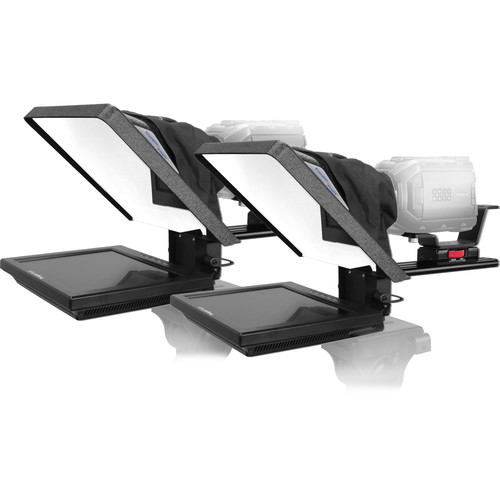"""Prompter People FLEX-12 12"""" Rectangular Glass Teleprompter with Flip-Q Pro Software License"""
