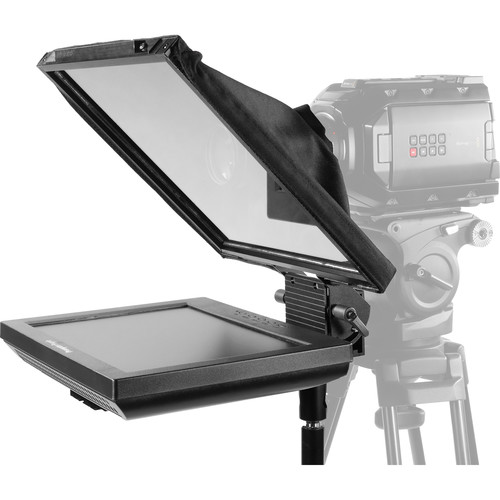 """Prompter People Prompter Pal PAL12-FS Freestanding Teleprompter with Reversing Monitor, 12x12"""" Glass, and Stand"""
