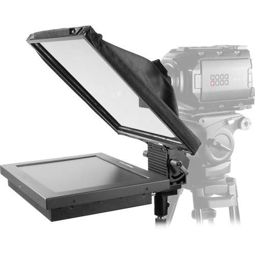 """Prompter People Prompter Pal PAL12-FSHB Freestanding Teleprompter with High-Bright Reversing Monitor, 12x12"""" Glass, and Stand"""