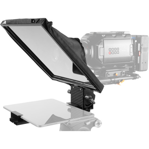 """Prompter People Prompter Pal PAL12-iPAD-15mm Teleprompter with Tablet Cradle, 12 x 12"""" Glass, and 15mm Rod Block"""