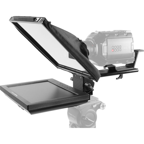 """Prompter People PAL12 Prompter Pal Teleprompter with Auto-Reversing Monitor, 12 x 12"""" Glass, and Camera Sled"""