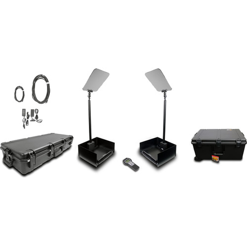 """Prompter People ProLine StagePro 15"""" AutoStepper Presidential Teleprompters (Pair)"""