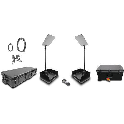 """Prompter People ProLine StagePro 15"""" HighBright AutoStepper Presidential Teleprompters (Pair)"""