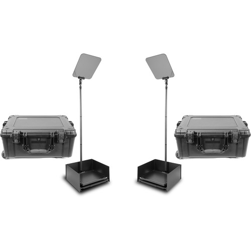 """Prompter People ProLine StagePro 17"""" Carbon Fiber Presidential Teleprompters (Pair)"""