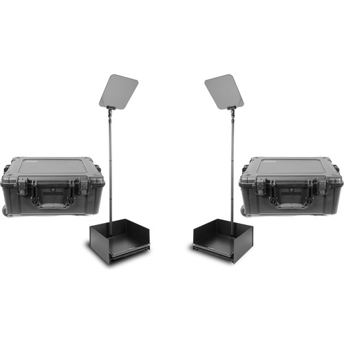 """Prompter People ProLine StagePro 19"""" Carbon Fiber Presidential Teleprompters (Pair)"""