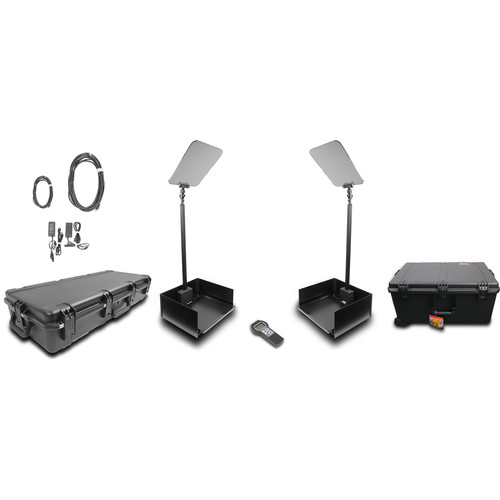 """Prompter People ProLine StagePro 19"""" AutoStepper Presidential Teleprompters (Pair)"""