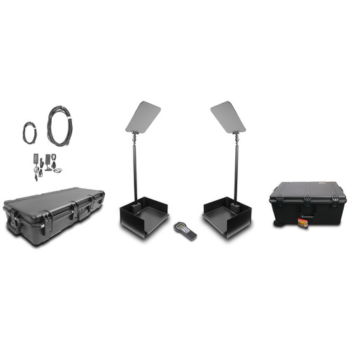 """Prompter People ProLine StagePro 19"""" HighBright AutoStepper Presidential Teleprompters (Pair)"""