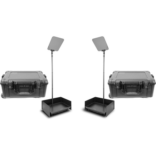 """Prompter People ProLine StagePro 24"""" HighBright Carbon Fiber Presidential Teleprompters (Pair)"""