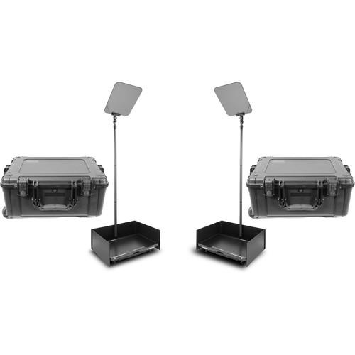 """Prompter People ProLine StagePro 24"""" Carbon Fiber Presidential Teleprompters (Pair)"""