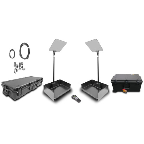 """Prompter People ProLine StagePro 24"""" Auto-Stepper High-Bright Presidential Teleprompter (Pair)"""