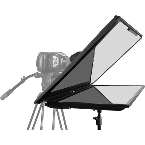 """Prompter People Q-Gear QPro FreeStand 32"""" Teleprompter Bundle with Reversing 32"""" Monitor"""