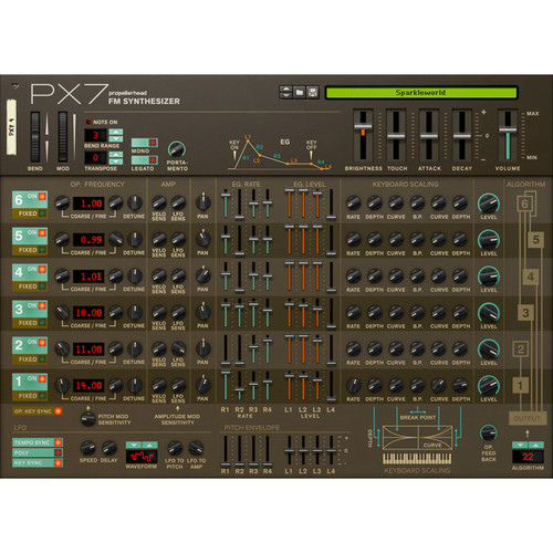Propellerhead Software PX7 FM Synthesizer - Rack Extension for Reason (Download)