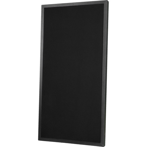 "Prosocoustic Evolution 4' x 2' x 2"" Acoustic Panel with Black Aluminum Frame, One Side Luan (Black)"