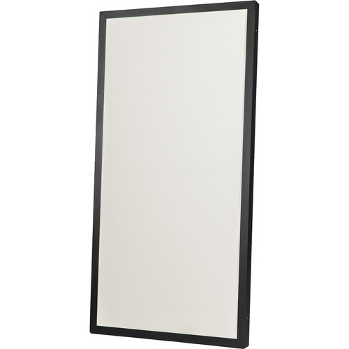 "Prosocoustic Evolution 4' x 2' x 2"" Acoustic Panel with Black Aluminum Frame, One Side Luan (Stone)"