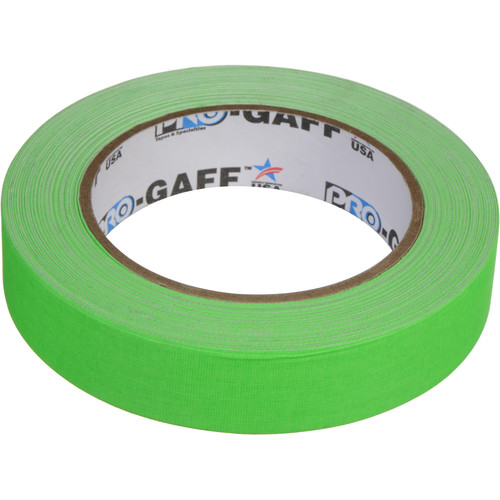 """ProTapes Pro Gaff Adhesive Tape (1"""" x 25 yd, Fluorescent Green)"""
